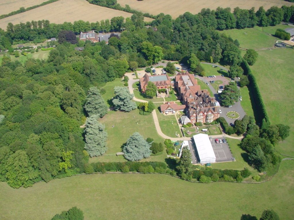 Aerial view of Pendley Manor