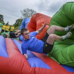 Man on inflatable