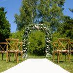 Aisle flower arch